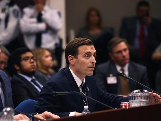 Nevada Attorney General Adam Laxalt testifies before
