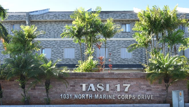 The TASI 17 condominiums in upper Tumon is shown in this Jan. 13 photo.
