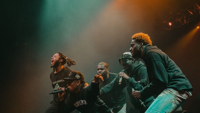Van Buren rappers take the stage at a concert at the House of Blues in Boston.
