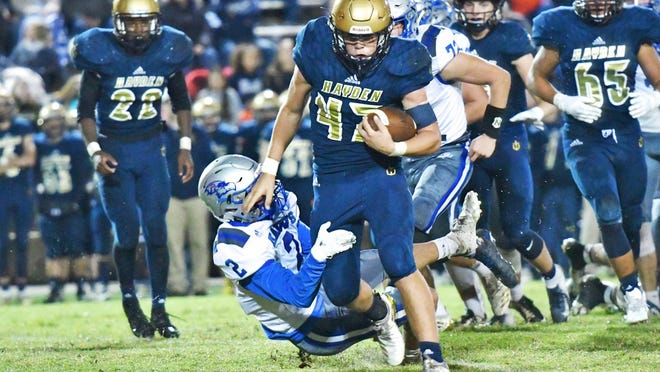 Hayden senior Will DeVader, an All-City Top 11 pick a year ago, rushed for three touchdowns in last Friday's 47-7 win at Emporia.