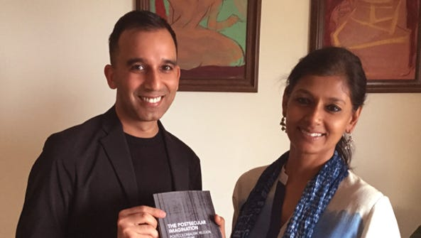 Manav Ratti, left, and Nandita Das.