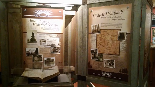 "Old Aurora Colony Museum's traveling exhibit, ""Historic Heartland: French Prairie Influence on Oregon Statehood,"" will be on display March 23 through April 21 at the Oregon State Capitol."
