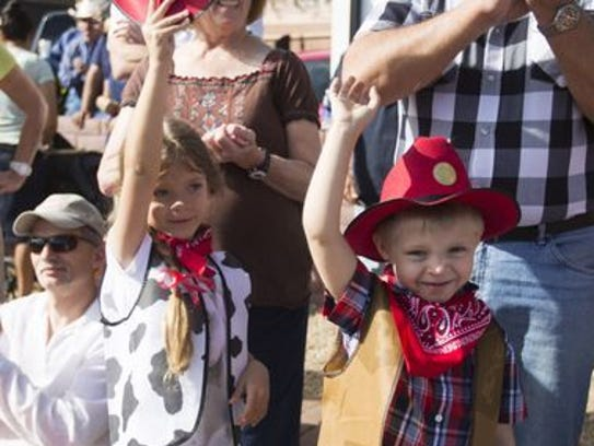 Catch the parade at 10 a.m. and then stay for the western-themed
