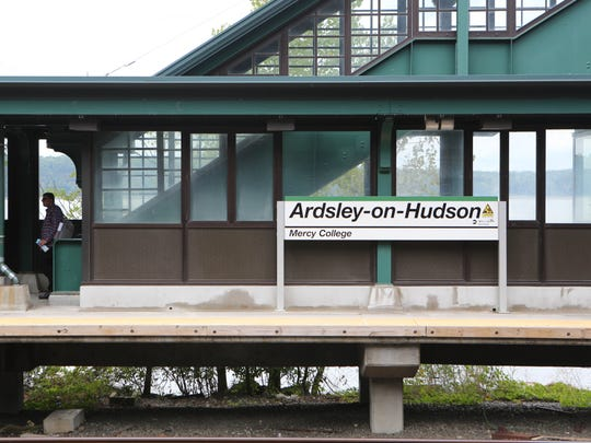The Hudson River, seen behind the Ardsley-on-Hudson station, provides a lovely background for many of the movie's scenes filmed aboard Metro-North trains.