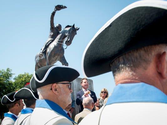 Galvez statue dedication