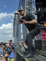 Sam Hunt recently at the  Firestone Legends Day Concert Stage at the Indianapolis Motor Speedway .