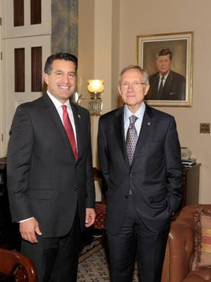Senator Reid and Governor-Elect Brian Sandoval meet in ReidÕs office to discuss important challenges facing Nevada in 2010.