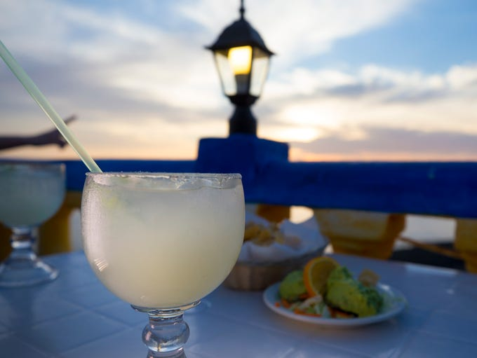 A margarita from La Casa del Capitan in Puerto Penasco,