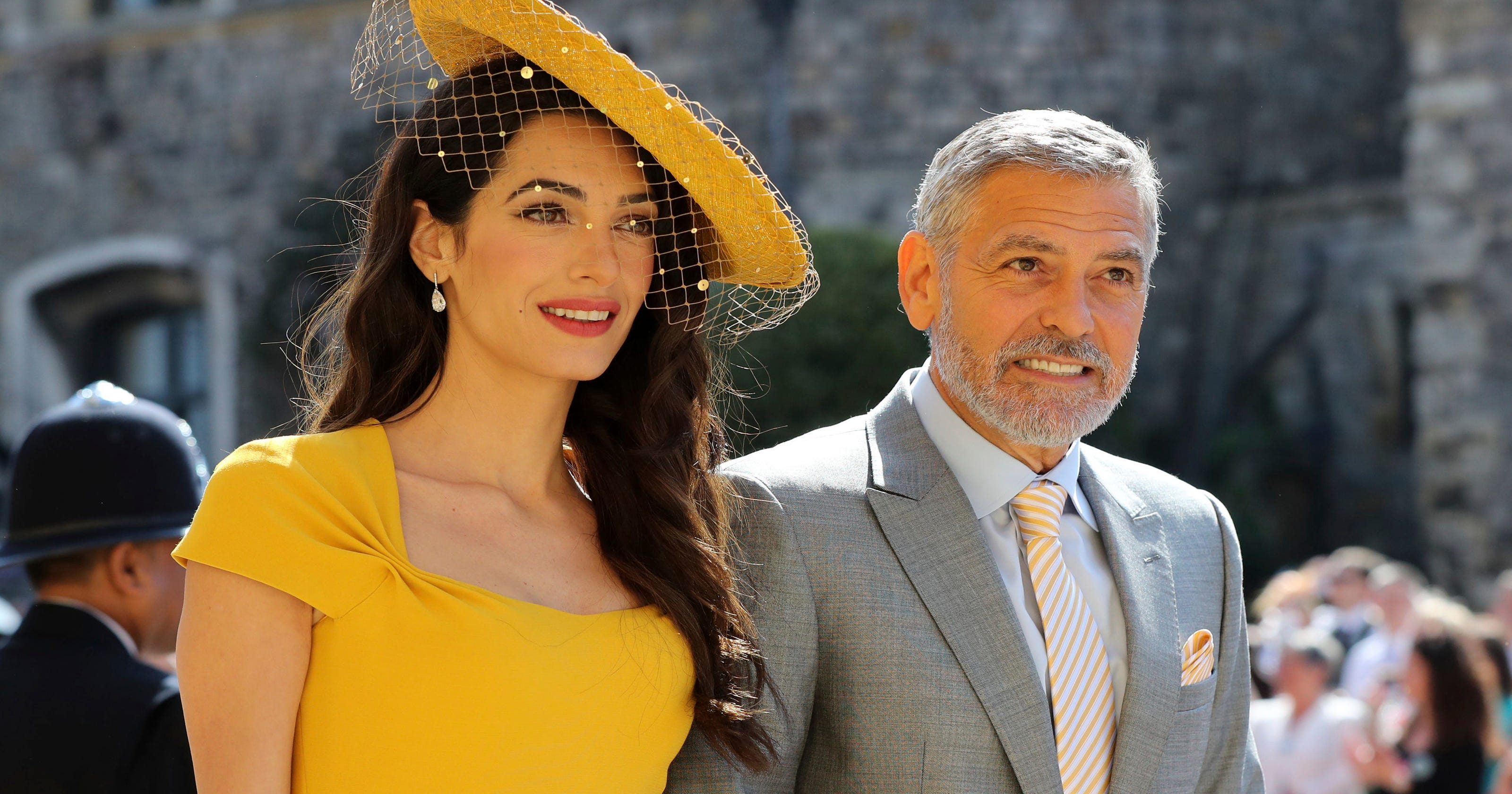 12898bf67be0c Royal wedding fashion  Amal Clooney is a ray of sunshine in yellow Stella  McCartney