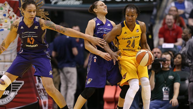 Phoenix Mercury guard Diana Taurasi and Indiana Fever forward Tamika Catchings are two of the top three scorers in WNBA playoff history.