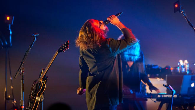 Jim James performs for the crowd at The Louisville Palace.
