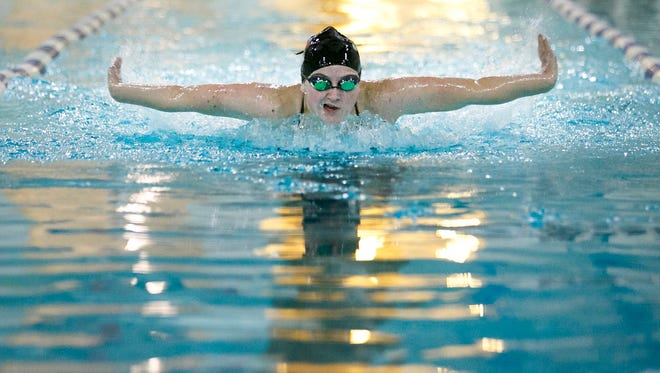 Jolie-Rae Ford, a senior at Dallas High School, is one of the top swimmers in the state. You can usually find her practicing with Dallas' school team, the club team - the Blue Dolphins - or working at the Dallas Aquatic Center.