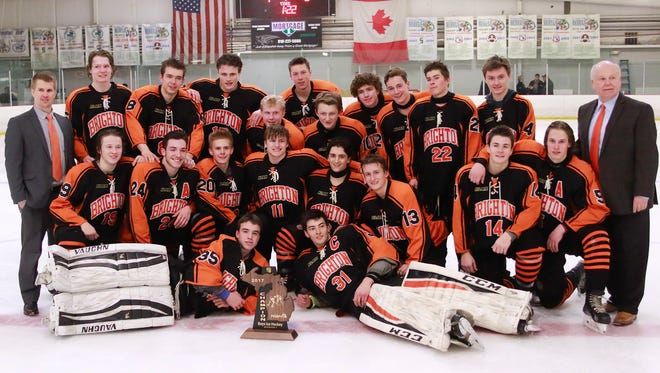 Brighton's hockey team earned a trip to the state quarterfinals Wednesday at Munn Ice Arena after winning the regional championship Saturday.