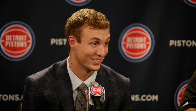 Detroit Pistons introduce rookie Luke Kennard on Friday, June 23, 2017 at the Palace in Auburn Hills.
