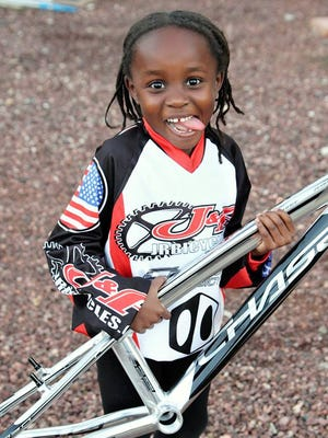 Ellie Carey, 6, lives in Goodyear and is the 2017 UCI BMX World Champion for her age class.
