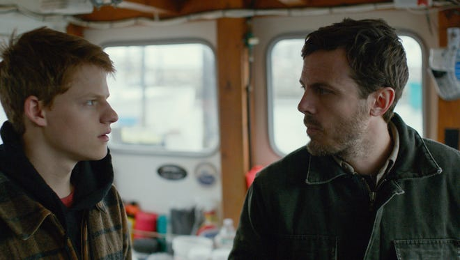 "Lucas Hedges, left, and Casey Affleck in  ""Manchester by The Sea."""