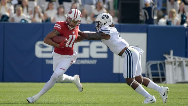 UW receiver Jazz Peavy has only five catches for 55 yards this season as he has been dealing with a leg injury.