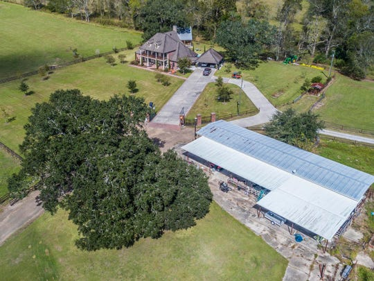 This home sits on more than 30 acres of prime property in Iberia Parish.