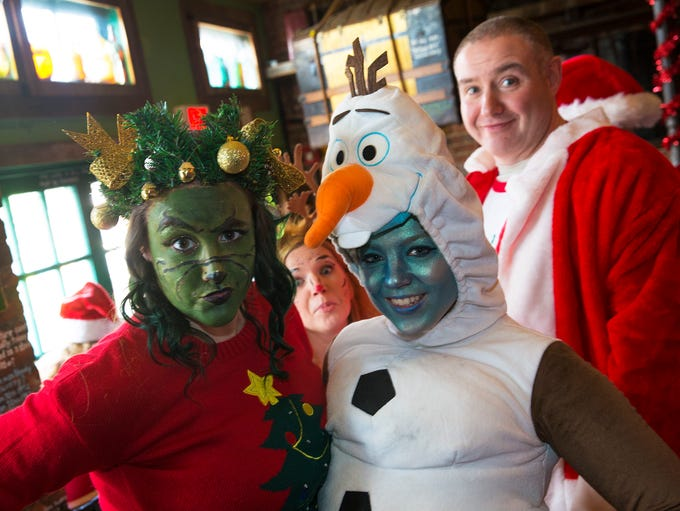 Grinch and snowman Olivia DeRosa of Woodbridge and