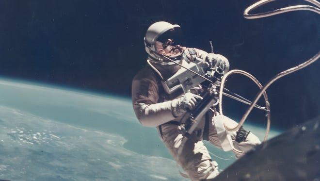 James McDivitt on the first US Spacewalk - Ed White's EVA (Extra Vehicular Activity), Gemini 4, 3 June 1965.