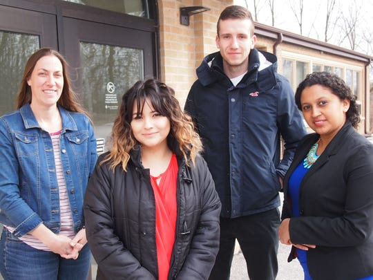 Silver Lake College students who have been accepted to The Commons Sheboygan program include, from left, Tammy Hagenow, Juanita Soto, Luka Jovicic and Heysa Orellana-Vega.