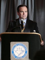 Mayor John Cranley speaks during the annual State of