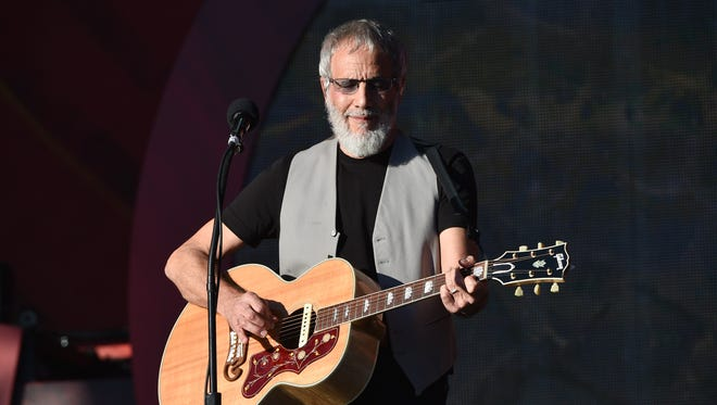 Yusuf Islam, formerly known as Cat Stevens, performs at the 2016 Global Citizen Festival on Sept. 24 in Central Park in New York.