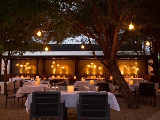 SO.PA features an outdoor dining room in Palm Springs.