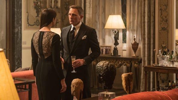 Monica Bellucci, left, and Daniel Craig appear in a