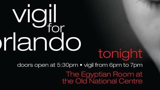 Indy Pride will host a vigil for the victims of the Orlando shooting tonight.