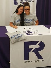 Fremont Ross' Braelyn Horn continues her softball career at Lakeland Community College. She's joined at her announcement by mother, Char.