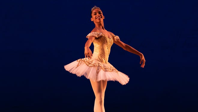 Alexandra Manuel performs in the Paquita ballet in 2018.