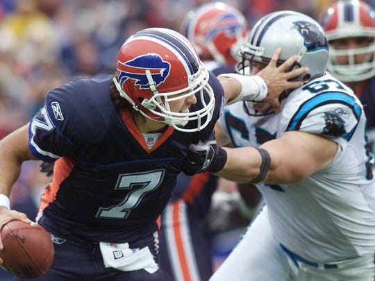 J.P. Losman was a first-round pick in 2004 (22nd overall) who never was able to make his way in the NFL. The quarterback went 10-23 as starter for the Buffalo Bills, and threw more picks (34) than touchdowns (33).