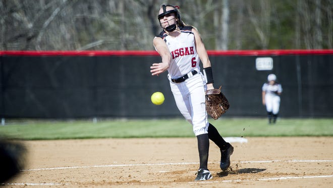 Pisgah pitcher Madison Whitted.