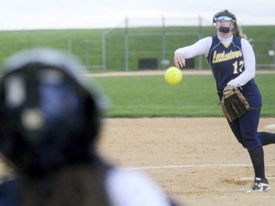 Littlestown's McKenzie Somers threw a complete-game victory against Kennard-Dale on Monday.
