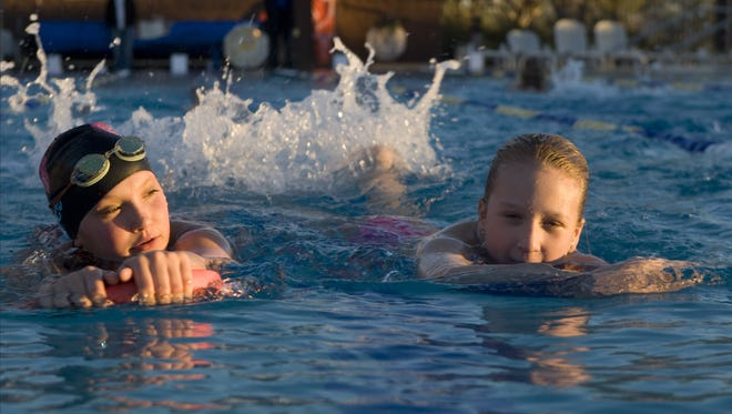 Anthem Community Center is opening its lap pools for two separate kids triathlon events this year; the Anthem Sprint Triathlon in August and the Anthem Holiday Classic Triathlon in December.