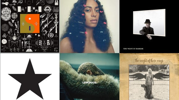 Bon Iver, Beyonce, Leonard Cohen, David Bowie, Solange and Miranda Lambert released some of the best albums of 2016.