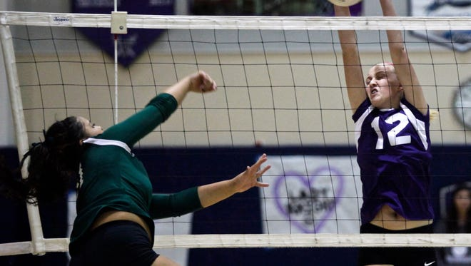 The Shadow Hills Knights hosted the Pomona Catholic Pacers in a CIF playoff volleyball game on Tuesday. The Kights defeated the Pacers by 3-0.