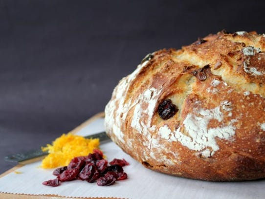 Cranberry or Orange Cherry Walnut holiday loaf from Stone House Bread