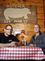 Aaron and Jennifer Sloma, co-owners of Parker John's