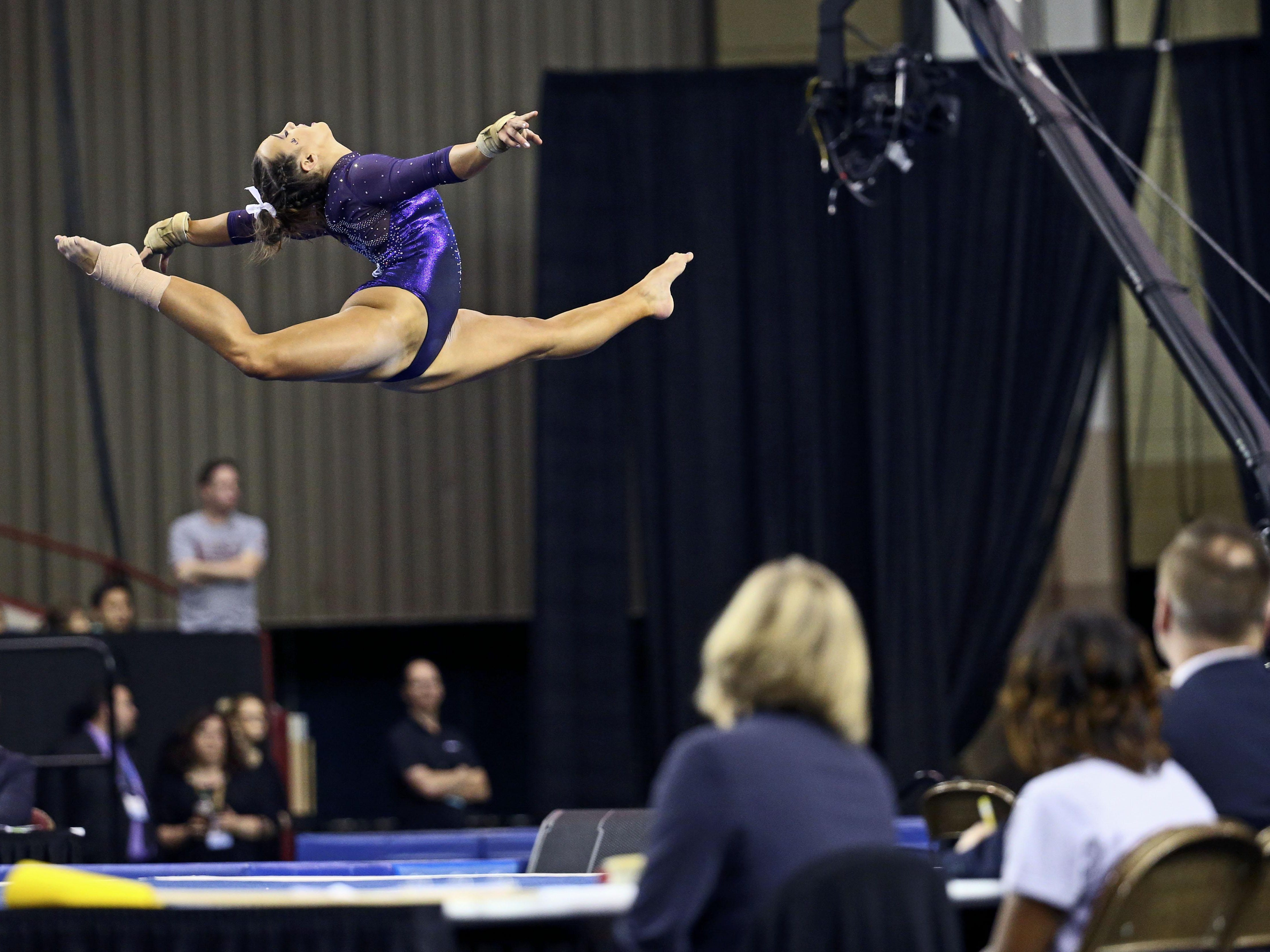 Ashleigh Gnat is the No. 1 in the nation on vault.