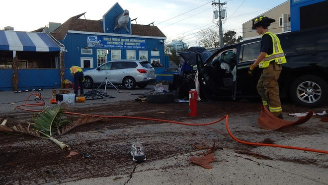 A photo from Saturday's fatal crash at the Starboard Bar & Restaurant