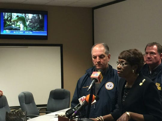 Mayor Ollie Tyler speaks at media briefing Friday.