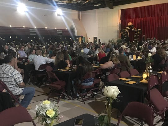 An estimated 500 staff members and their families attended Friday's gala.