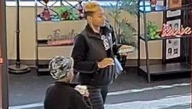 Surveillance cameras captured a suspected debit card theft in progress at Colerain Township Target and Hobby Lobby stores.