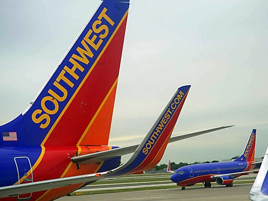 Southwest Airlines passenger planes are