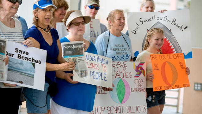 The group Save Pensacola Beach has been very vocal on beach-related issues. They collected more than 16,000 signatures on a petitionfor their referendum to be placed on the November ballot.