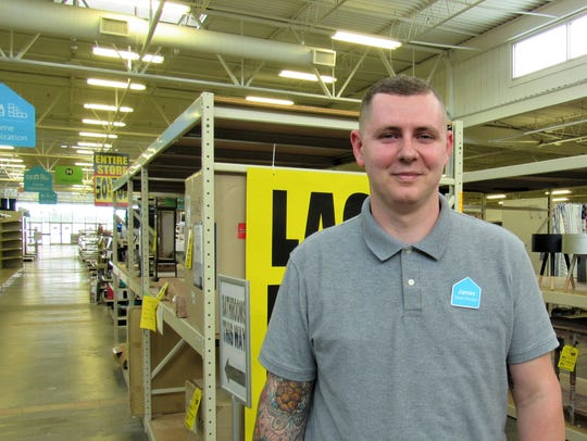 Store director James Davis ran clearance sales in the