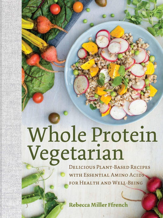 Vegetarian Cookbook Cover ~ Local author offers non meat protein options