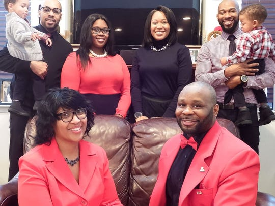 Lt. Steven Floyd, lower right, in a family photo from Christmas 2016. Floyd was killed when prisoners took over Building C in the James T. Vaughn Correctional Center near Smyrna on Feb. 1.